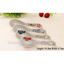 Haonai hot sell ceramic spoon with printing