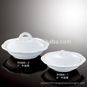 Hotel&Restaurant fine white ceramic soup plates, crockery soup cup wholesale, porcelain soup plate