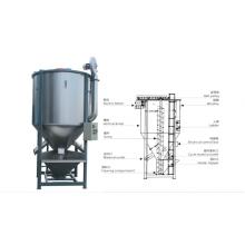Plastic Pellets Granules Mixer Blender Machine With heating