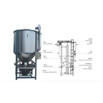 Máquina plástica de la licuadora del mezclador de los gránulos de las bolitas con la calefacción