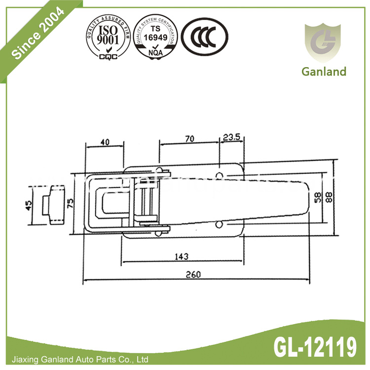 Pesca latch GL-12119
