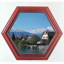 Wanjia upvc материал арка форма фиксированного окна WJ-W-020