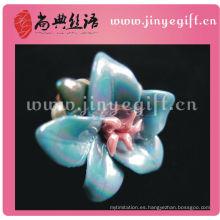Elestic Circle Rhinestone Crystal Fashion Sapphire Flower Anillos
