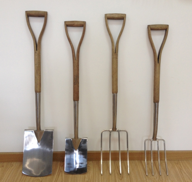 stainless garden tools