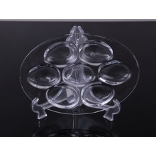 Fancy deviled egg holder pressed glass plate