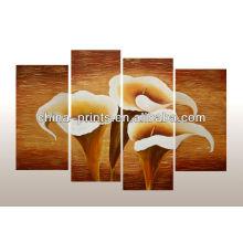 Multi-Panel handgefertigte Ölgemälde von Blumen