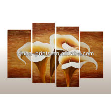 multi-panel handmade oil painting of flower