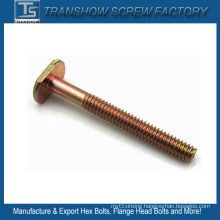 Yellow Zinc Galvanized T Head Bolt