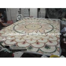 Stone Carpet Marble Mosaic Pattern Tile (STP83)