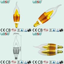 Lámpara de 5W 400lm C35 LED con la viruta del CREE, condensador de Rubycon