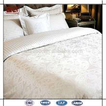 Personalizado 100 algodón llano blanco al por mayor Hotel de lujo equipado de la hoja