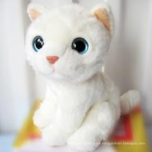 ICTI Audited Fábrica de ojos grandes felpa gato juguete