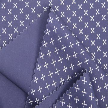 Tela estampada de popelina de algodón adecuada para hombres
