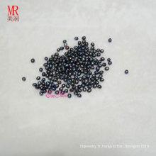 6-7 mm Perles d'eau douce au riz noir / Oval / Drop