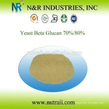 Proveedor fiable Levadura beta glucano 1,3 / 1,6 en polvo 70% / 80%
