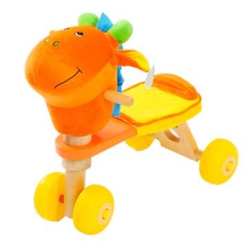 De Boa Qualidade Bicicleta de madeira do bebê com cabeça de asno