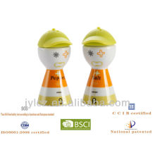 2013 brother ceramic salt & pepper shakers with silicone cap lid