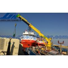 Grue marine télescopique hydraulique
