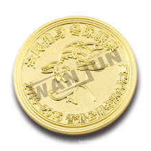 Cheap custom winter swimming game commemorative gold coin
