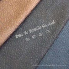 Embossed Polyester Leather Suede Sofa Fabric for Slipcovers