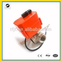 DN40 (40 mm) DC12V, mini válvula de bola del motor del acero inoxidable de DC5V para el proyecto del tratamiento de aguas