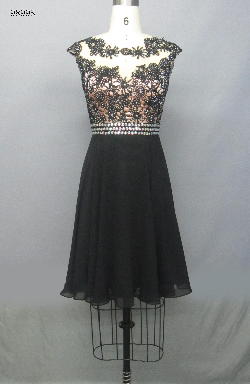 Cocktail Sleeve Dress BLACK