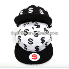 printing and cool 6 panel fashion snapback hat made in china