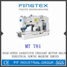 Haute vitesse piqueuse droite bouton Holing Machine à coudre industrielle (781)