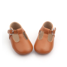 Brown T Bar Mary Jane Baby Kleid Schuhe