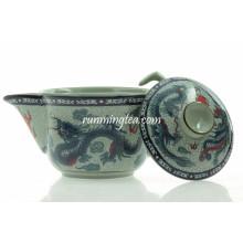 Pot de thé en céramique traditionnel Dragon & Phenix de 200 cc
