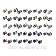 Mixed Styles Logo Fake Cheater Ear Plugs Body Piercing