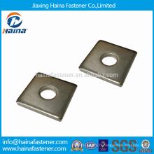 Rondelles carrées 304/316 en acier inoxydable à utiliser dans les constructions en bois