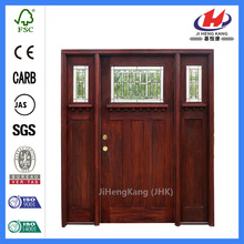 Contemporary Craftsman Carved Wood Wooden Interior Mahogany Door