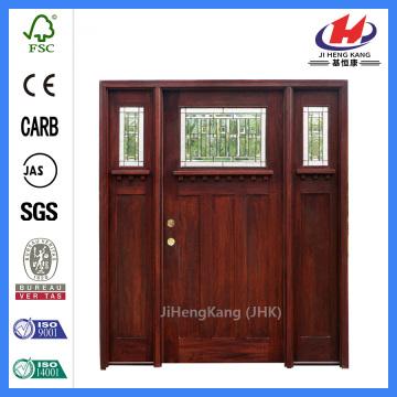 Contemporary Craftsman Carved Wood Wooden Interior Mahogany Door