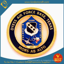 Moneda acabada en oro personalizada de la Fuerza Aérea