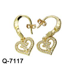 Os mais novos estilos de chapeamento de ouro 925 brinco de prata esterlina