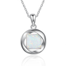 Opal Stone High End Popular 925 Sterling Silver Jewelry Opal Necklace
