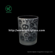 Color Double Wall Glass Candle Cup by SGS (KLB130916-192)
