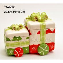 Handgemalte keramische Weihnachtsgeschenk verbundene Kiste