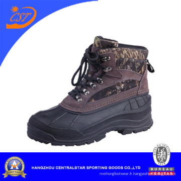 Daim cuir Camo neige hiver bottes (XD-122)