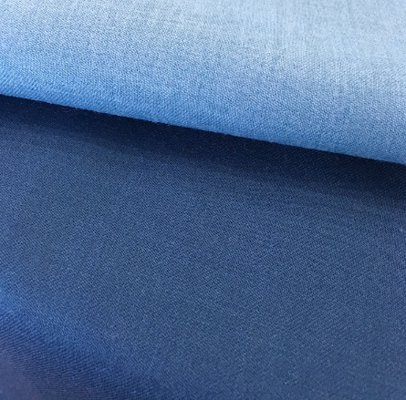 HOT BLUE WOVEN WORSTED FABRIC