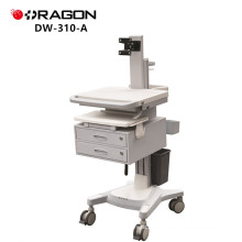 DW-310-A Mobile adjustable height stand up desk hospital medical computer workstation cart trolley