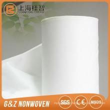 Tissu non tissé de fibre de bambou de 100% spunlace roule le rouleau de tissu de bambou