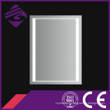 Newly-Designed Decorative Square Silver Bathroom Wall Mirror with LED Light
