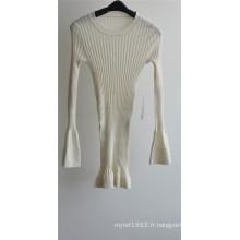 Sweat à manches courtes en laine à 100% en laine
