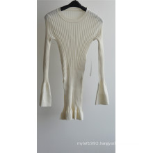 100% Wool Women Round Neck Knit Sweater