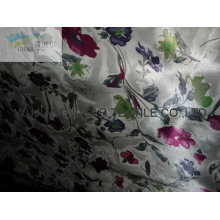Polyester small floral Printed shiny Satin For Dress