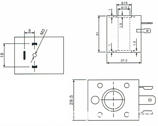 economic solenoid valve coil dimensions