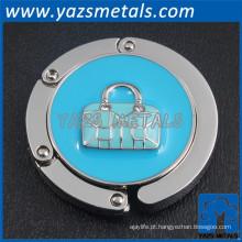 Mini-titular do coração azul claro Lady Handbag Lock Gancho Holder Purse Bag Hanger
