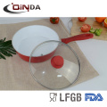 white ceramic deep fry pan with lid